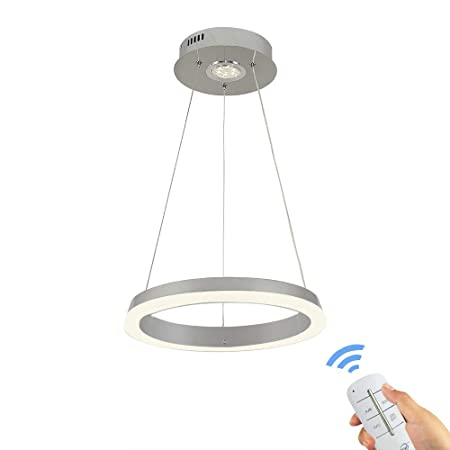 Modern Pendant Light Simple Design One Ring Ceiling Lamp Chandeliers Lights Fixture with Remote Control for Living Room