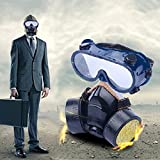 Vktech Industrial Gas Chemical Anti-Dust Respirator Mask Goggles Set (Style B)
