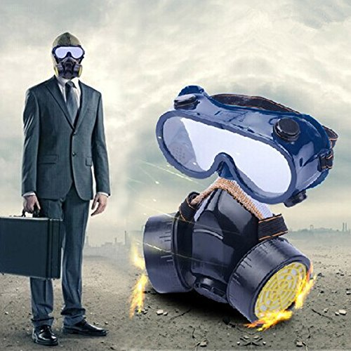 Mouth Mask Respirator (Vktech Industrial Gas Chemical Anti-Dust Respirator Mask Goggles Set (Style B))