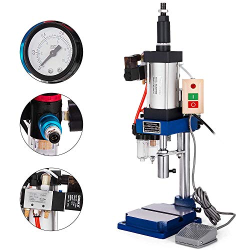 (Mophorn Pneumatic Punch Press Machine 110V Cylinder Stroke Pneumatic Press 0.4-0.7 Mpa Operation Pressure)