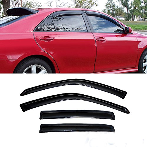 Audrfi 4pcs Window Visors Sun Rain Guard for 07-12 Nissan Altima 4-Door Sedan Smoke Side Wind Deflectors Vent Visor
