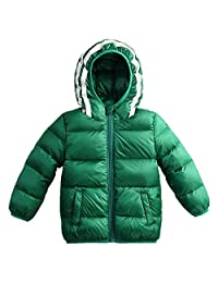 LJYH Boy's Girl's Hooded Packable Down Jacket with Reflective Stripe