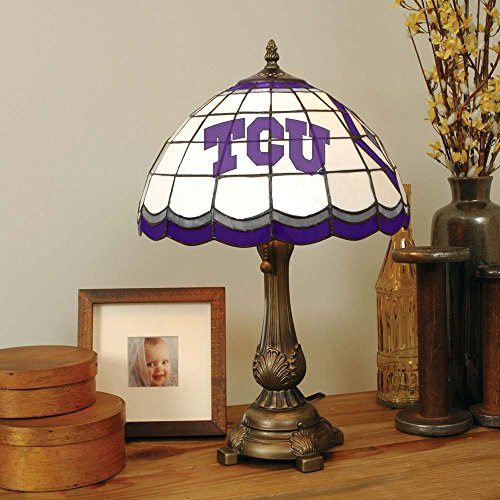Texas Christian Tiffany Table Lamp by The Memory Company
