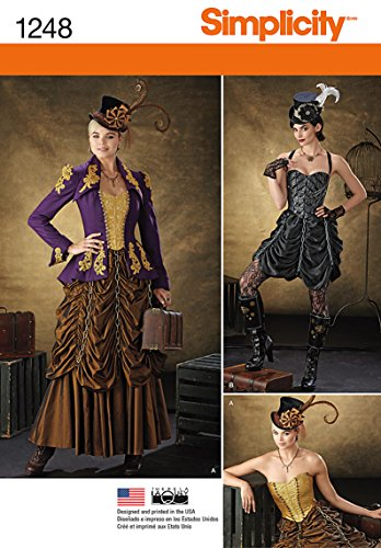 Simplicity Creative Patterns 1248 Misses' Steampunk Costumes, Size: HH 6-8-10-12