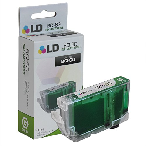LD Compatible Ink Cartridge Replacement for Canon BCI6G 9473A003 (Green)