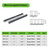 meite MC1238 1/2-Inch Wide Crown by 3/8-Inch Length Corrugated Fasteners or Corrugated W Fastener Staples 14000-Pieces/Case