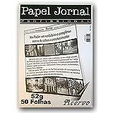 Bloco Papel Jornal Profissional 52 g/m² A-4 31,5X21,5Cm com 50 Folhas Acervo
