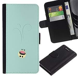 NEECELL GIFT forCITY // Billetera de cuero Caso Cubierta de protección Carcasa / Leather Wallet Case for Sony Xperia Z3 Compact // Lindo Smiley