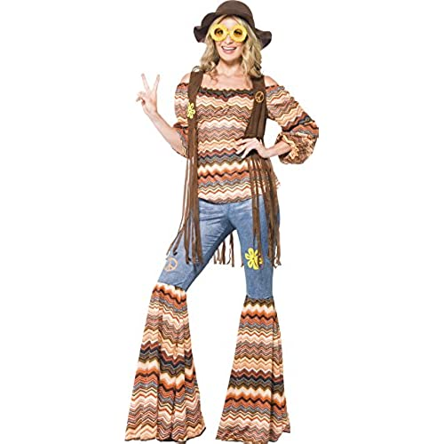 Smiffyu0027s Womenu0027s Harmony Hippie Top Flares and Waistcoat 70 Disco Serious Fun Size 6-8 43856  sc 1 st  Amazon.com & Janis Joplin Costume: Amazon.com
