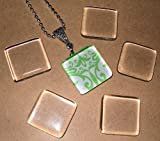 Olivia Pearl Designs 50 Clear Small Square Glass Tiles