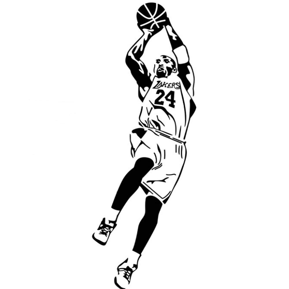 Fangeplus R DIY Removable Kobe Shot Basketball Players Art Mural Vinyl Waterproof Wall Stickers Kids Room Decor Nursery Decal Sticker Wallpaper 16.9''x50.7''