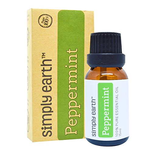 Peppermint Essential Oil by Simply Earth - 15 ml, 100% Pure Therapeutic Grade (Natural Scotch Guard compare prices)