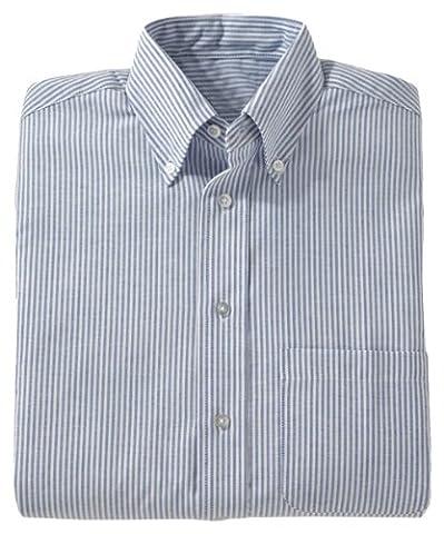 Ed Garments Men's Short Sleeve Oxford Shirt, BLUE STRIPE, XXXXX-Large Tall - Edwards Button Down Oxford Shirt