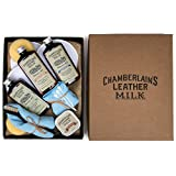 Leather Milk Leather Restoration Kit - Heal & Restore Antique Leather. Cleaner, Conditioner, Water Protectant, Healing Balm, Detailing Brushes, Pads, & More! All-Natural. Made in USA