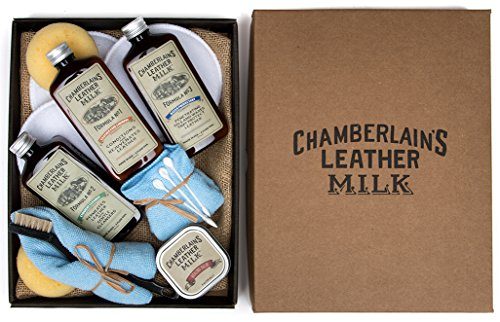 Leather Milk Leather Restoration Kit - Heal & Restore Antique Leather. Cleaner, Conditioner, Water Protectant, Healing Balm, Detailing Brushes, Pads, & More! All-Natural. Made in USA Filter Restore Kit