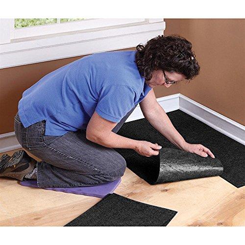 Houseables Carpet Tiles Peel And Stick Floor Tile Squares 144 Pack