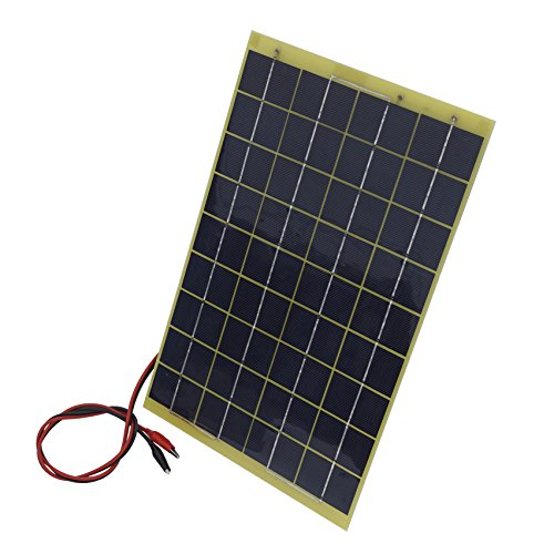 10Watt 18V Epoxy Solar Panel with Battery Clips Ideal For 12V Battery Charger For Car RV Boat Camping by ECO LLC (Image #1)