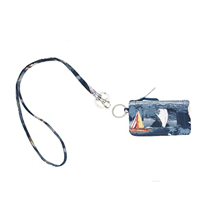 650383f70aec Leanoria Womens Lanyard with Wallet Zip ID Card Case Badge Holder Office  Lanyards (Blue Ocean)