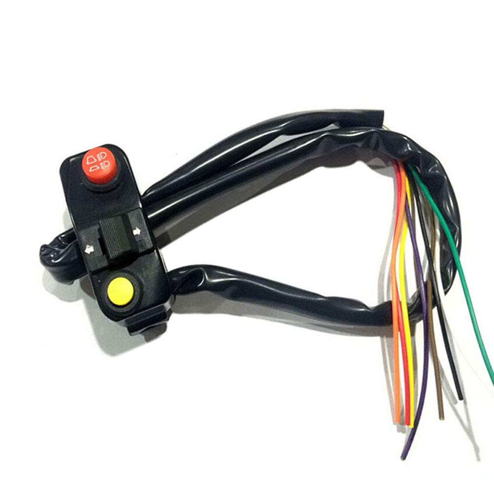 Feiteplus Universal 7//8 Aluminum Motorcycle Handlebar Mount Switches Horn Button Turn Signal Light Switch Electrical System DC 12V