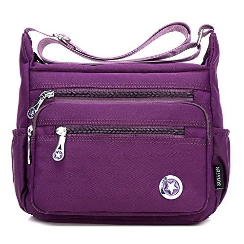 Capacity Bags Messenger Blue Bag Casual Nylon Women's Original Handbag Large Shoulder Travel Crossbody wU46qz6n5x