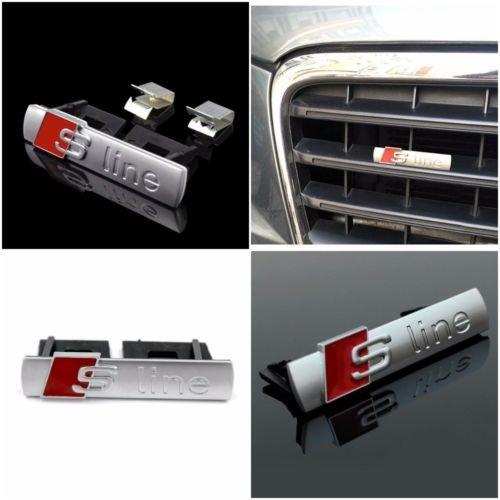 Audi Sline griglia anteriore emblema adesivi Cars Chrome Stylings A3/A4/A6/A7/quattro TM Gozebra