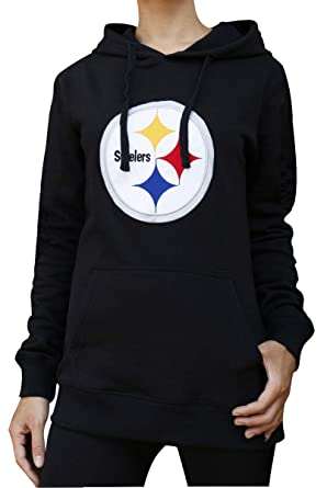 low priced d5822 a31aa Winzonup Womens Sporty Football Steelers Sweatshirt Casual Pullover Hoodie
