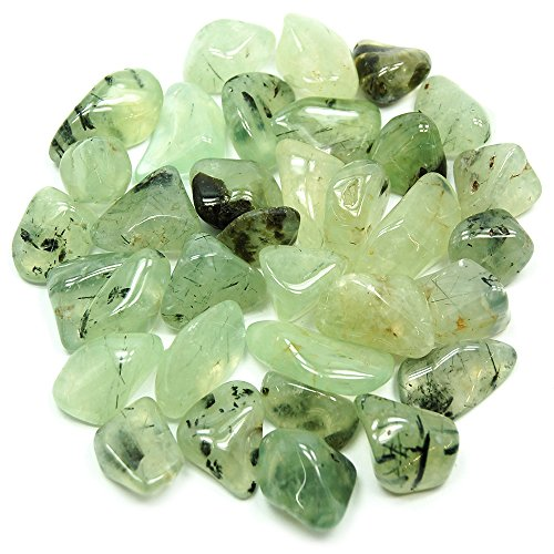"Tumbled Prehnite""Extra"" with Epidot (1"" - 1-1/2"") - 1pc."