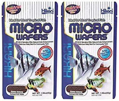 Hikari Wafers Micro (Hikari Micro Wafers for Pets, 1.58-Ounce (2 Pack))