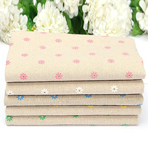 Arts, Crafts & Sewing - Diy Daisy Printed Linen Patchwork Cotton Inventory Cloth Handmade Zakka - Daisy Cotton Fabric Dinning Table Cloth Room Rect Covers Counter Clothes Modern Linens - 1PCs