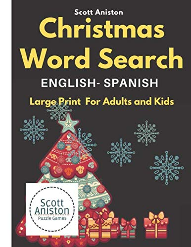 Christmas Word Search Large Print  For Adults and Kids: ENGLISH - SPANISH Christmas Word Find Puzzles (Activities Spanish Christmas)