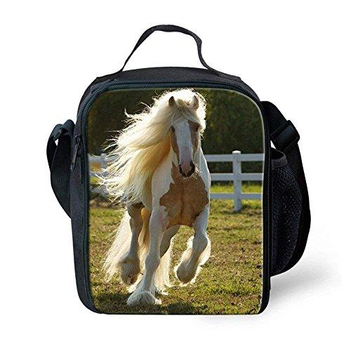 Showudesigns - Bolsa de almuerzo personalizable para caballos y niños Small Horse 2 Horse 6