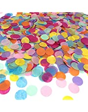 Confetti Round Paper Towels for Home Wedding Birthday Party Decoration, Mixed Colors