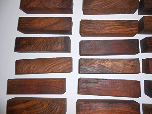 Cocobolo Rosewood turning squares-20 pcs. that are 2 x 2 x 6 inches long by Diamond Tropical Hardwoods