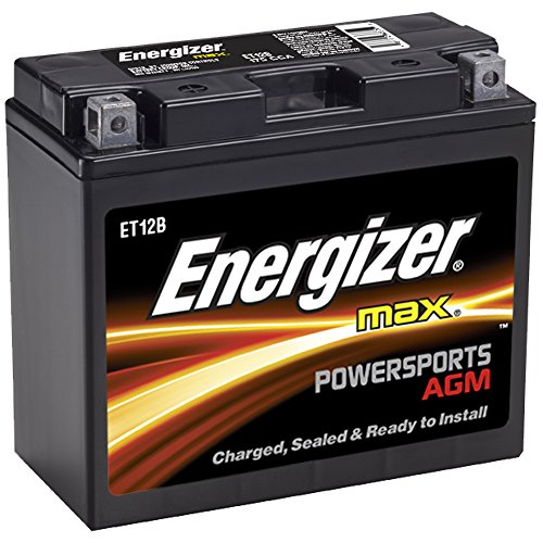 Energizer ET12B AGM Motorcycle 12V Battery, 175 Cold Cranking Amps and 10 Ahr.  Replaces: YTZ12B, YT12B-BS, and others ()