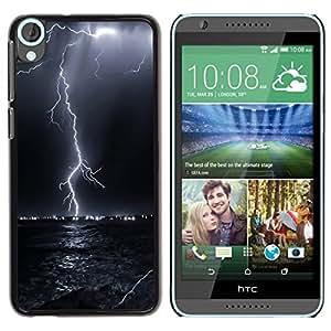 Design for Girls Plastic Cover Case FOR HTC Desire 820 Thunder Lightning Storm Sky Black Night OBBA