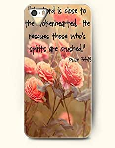 iPhone 4 4S Case OOFIT Phone Hard Case **NEW** Case with Design The Lord Is Close To The Brokenhearted He Rescues Those Who'S Spirits Are Crushed Psalm 34:18- Bible Verses - Case for Apple iPhone 4/4s