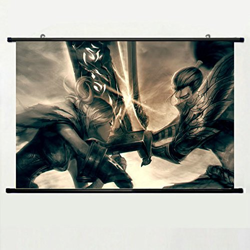 Wall Scroll Poster with League Of Legends Yasuo Riven The Ex