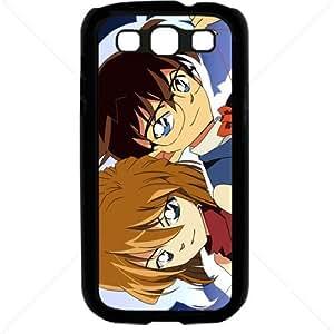 Detective Conan Manga Anime Comic Samsung Galaxy S3 SIII I9300 TPU Soft Black or White case (Black)