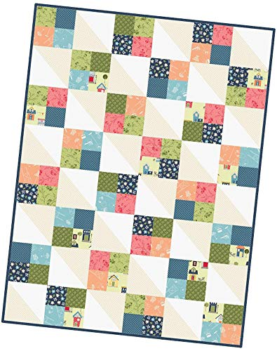 Kim Christopherson Make Yourself at Home Four Square Pod Quilt Kit Maywood Studio