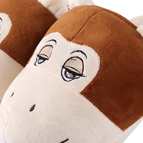 Winter Cute Plush Bedroom Adult Indoor Shoes Comfort Kid Animal Monkey Slipper Aerusi House qHTwYngxIq