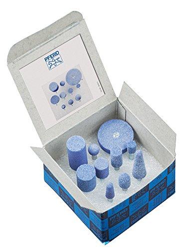 (PFERD 39003 10 Piece Ceramic Grain Mounted Point Set, 1/4