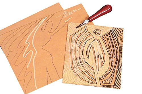Speedball 401913 Soft Art Print Linoleum, 4'' x 6'' Size, Light Brown