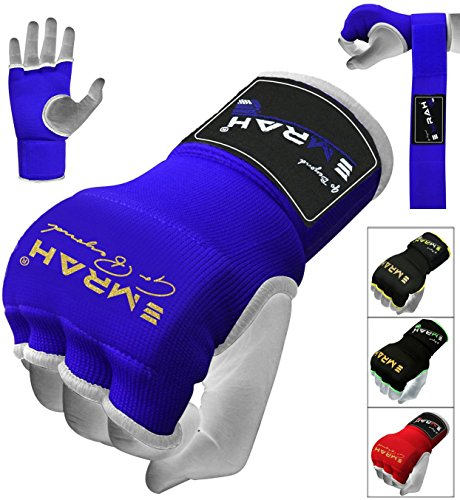 EMRAH PRO Training Boxing Inner Gloves Hand Wraps MMA Fist Protector Bandages Mitts - X (Blue, Large) ()
