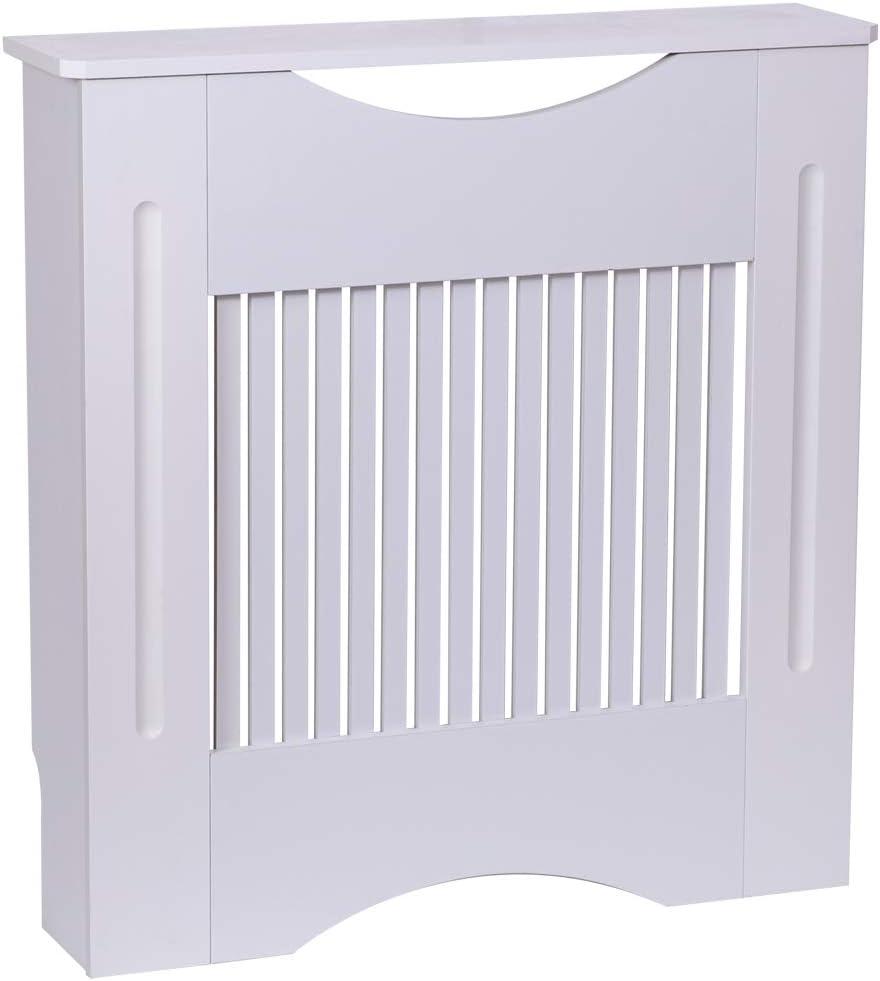 Muebles para el Hogar Moderno Dise/ño Cruz Color Blanco MDF Finether Cubierta de Radiador de Armario Tama/ño Medio