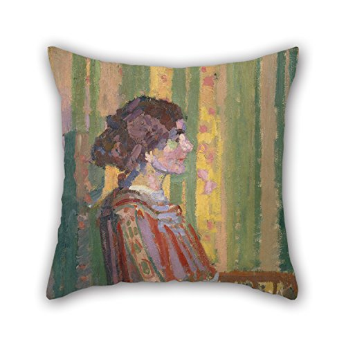 Alphadecor Pillow Covers 18 X 18 Inches / 45 By 45 Cm(two Sides) Nice Choice For Outdoor,relatives,indoor,father,relatives,him Oil Painting Harold Gilman - Stanislawa De Karlowska (Mrs. Robert Bevan (Outdoor Fabric Calgary)