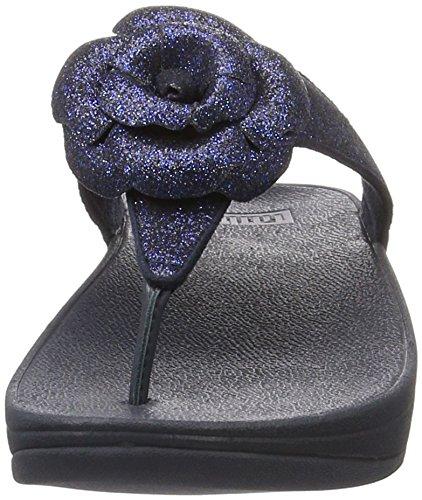 Fitflop Glitterosa Tm, Chancletas para Mujer Azul (Supernavy)