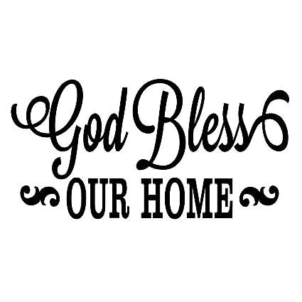 Amazoncom Zssz God Bless Our Home Christian Religious Quotes Art