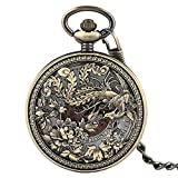 Flying Phoenix Mechanical Pocket Watch, Chinese Style Pocket Watches, Unique Gifts for Family Friends