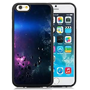 Fashionable Custom Designed iPhone 6 4.7 Inch TPU Phone Case With Space Asteroids Belt Purple_Black Phone Case
