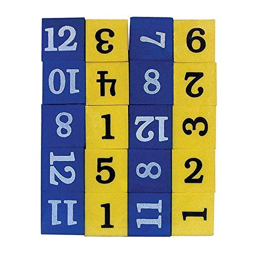Teacher Created Resources Foam Numbered DICE Numerals 1-12